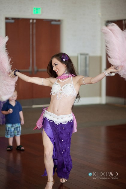 Belly Dancer Carrara Nour at Lake Mary Events Center Wedding