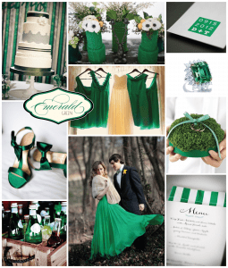 Emerald Inspiration Board (Courtesy of Orange Blossom Special Events)