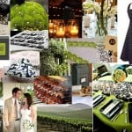 Green, Black and White Wedding Palette