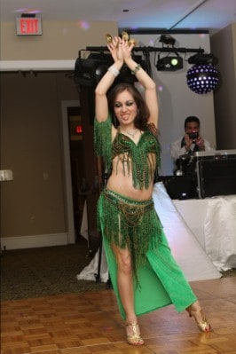 Carrara Nour performs Lebanese-style belly dance at a wedding near Orlando