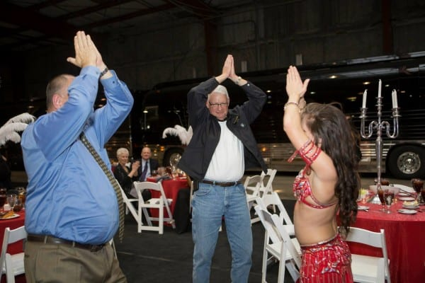 Florida belly dancer Carrara Nour teaches new moves at a corporate event in Orlando