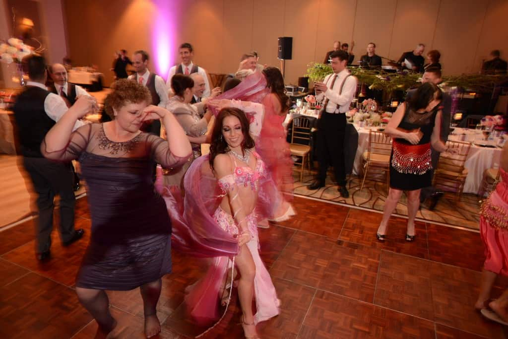Belly Dancer Carrara Nour performs at a Turkish-American fusion wedding in Orlando, FL