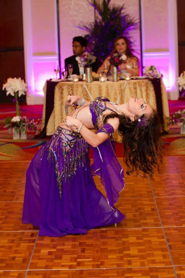 Belly dance at an Indian/American fusion wedding at Lake Mary Hilton, Photo by Mike Briggs