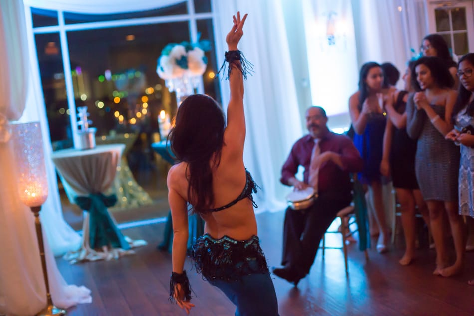 Belly Dancer Carrara Nour at an Egyptian Sweet 16 at Crystal Ballroom Sunset Harbor Daytona. Photo by Jerry & Denise