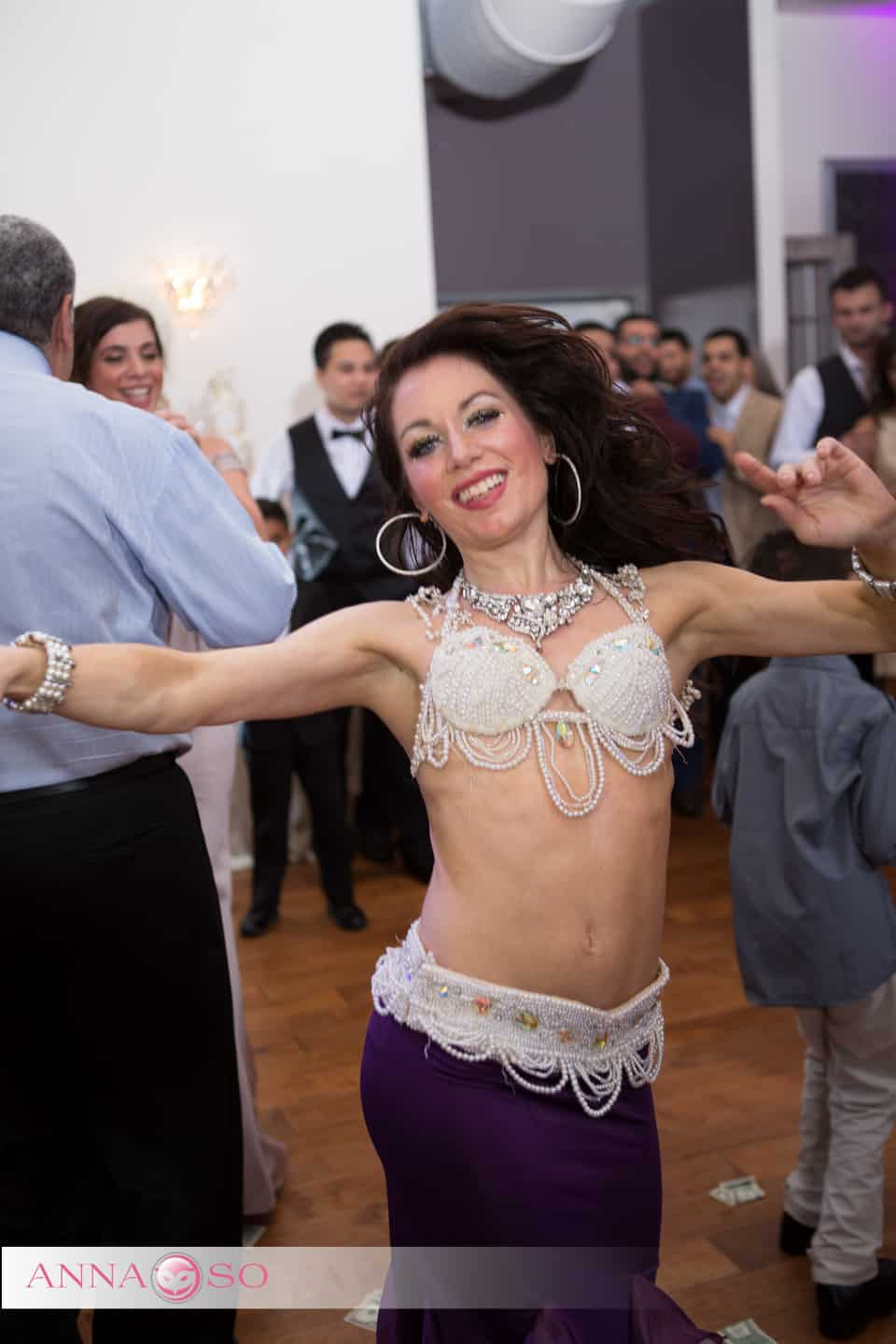 Carrara Nour (belly dancer Orlando) performs at an Egyptian wedding at Crystal Ballroom at Veranda MetroWest. Photography by Anna So