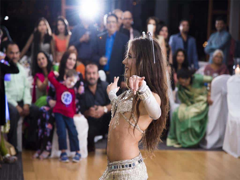 Carrara Nour performs a sword dance at Timacuan Country Club, Lake Mary