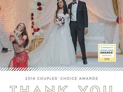Carrara Nour, belly dancer in Orlando, wins the 2018 WeddingWire Couples' Choice Award