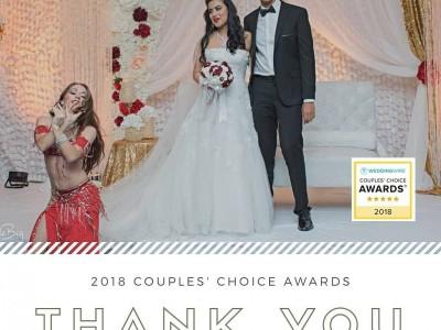 Carrara Nour, belly dancer in Orlando, wins the 2018 WeddingWire Couples' Choice Award