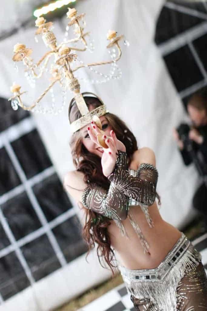 Carrara Nour performs with shamadan at a wedding in Longwood, FL