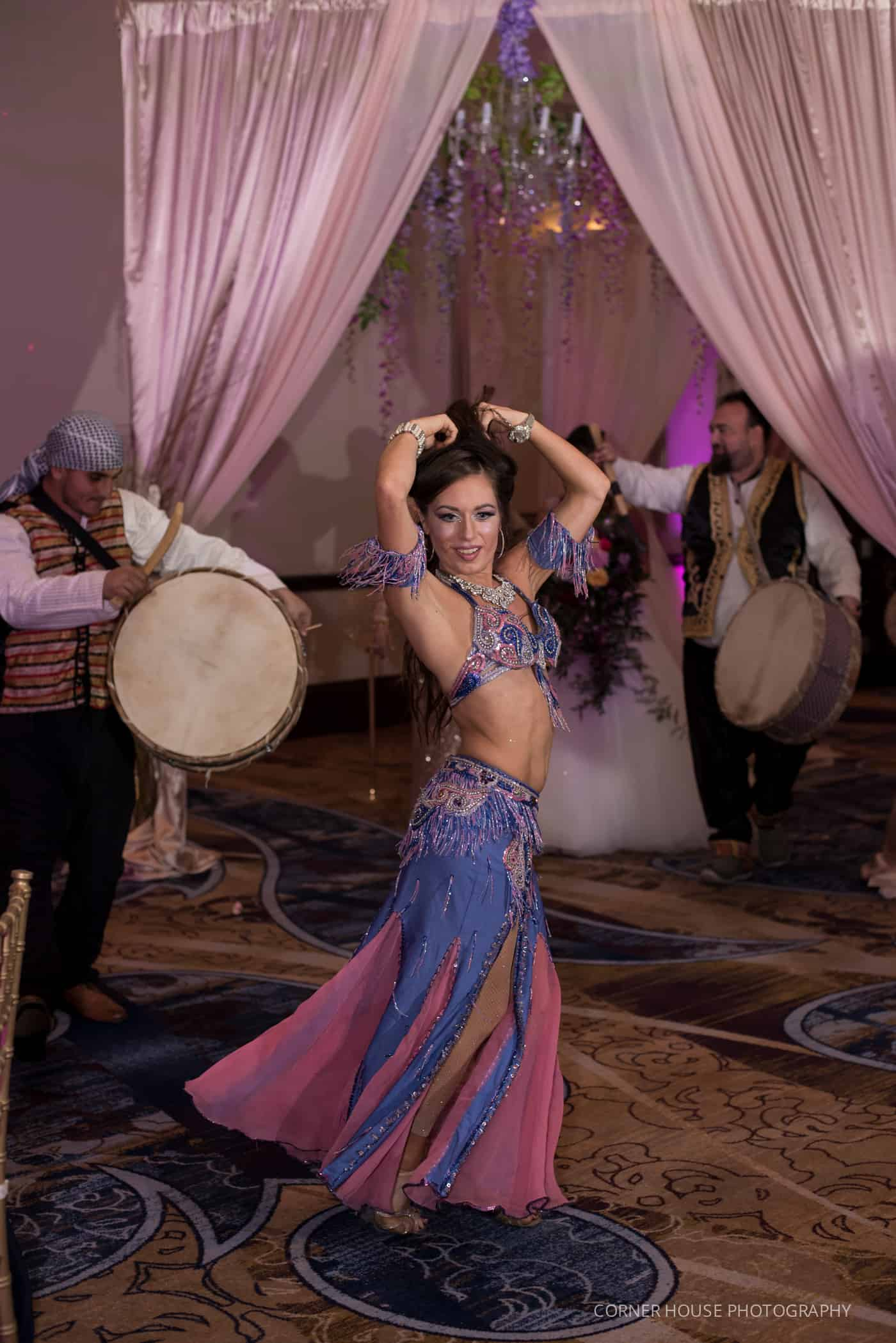 Carrara performing belly dance for a zaffe in Orlando