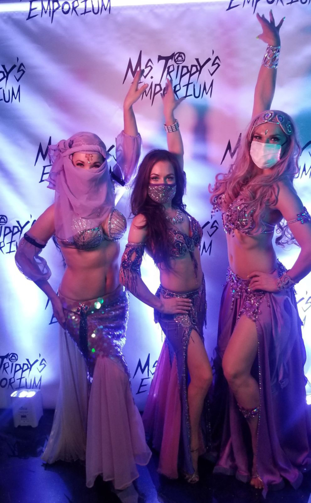 Socially distant belly dance shows in orlando